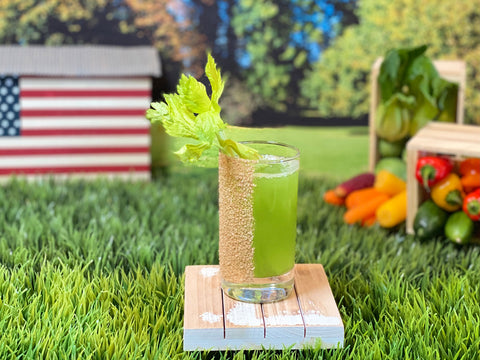 """Soju Celery Tonic cocktail for the film """"Minari"""" - 2021 Oscar Cocktail Collection by Mark Addison"""