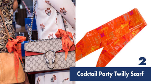 Cocktail Party Twilly Scarf | Shop Cocktail Chameleon by Mark Addison