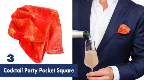 Cocktail Party Pocket Square | Gift Guide for Cocktail Lovers | Shop Cocktail Chameleon by Mark Addison