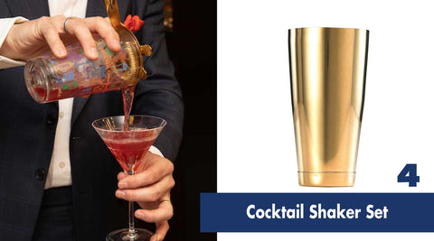 GOLD Boston Shaker | Gift Guide for Cocktail Lovers | Shop Cocktail Chameleon by Mark Addison