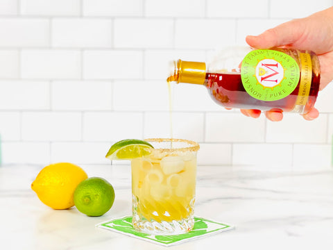 Maple Margarita Recipe featuring Monsalvat Farm Bourbon Barrel Aged Maple Syrup | Shop Cocktail Chameleon by Mark Addison