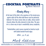 Limited Edition Cocktail Portrait: Bloody Mary signature plate