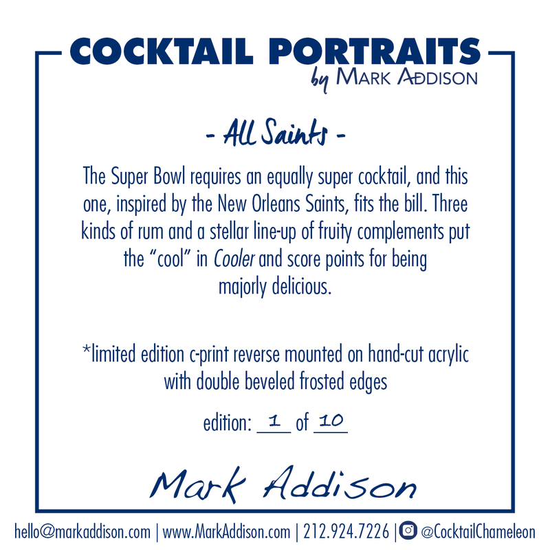 Limited Edition Cocktail Portrait: All Saints signature plate