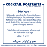 Limited Edition Cocktail Portrait: Baked Apple signature plate