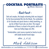 Limited Edition Cocktail Portrait: Black Forest signature plate