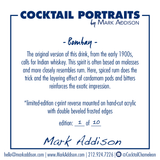 Limited Edition Cocktail Portrait: Bombay signature plate