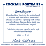 Limited Edition Cocktail Portrait: Classic Margarita signature plate