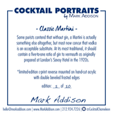 Limited Edition Cocktail Portrait: Classic Martini signature plate