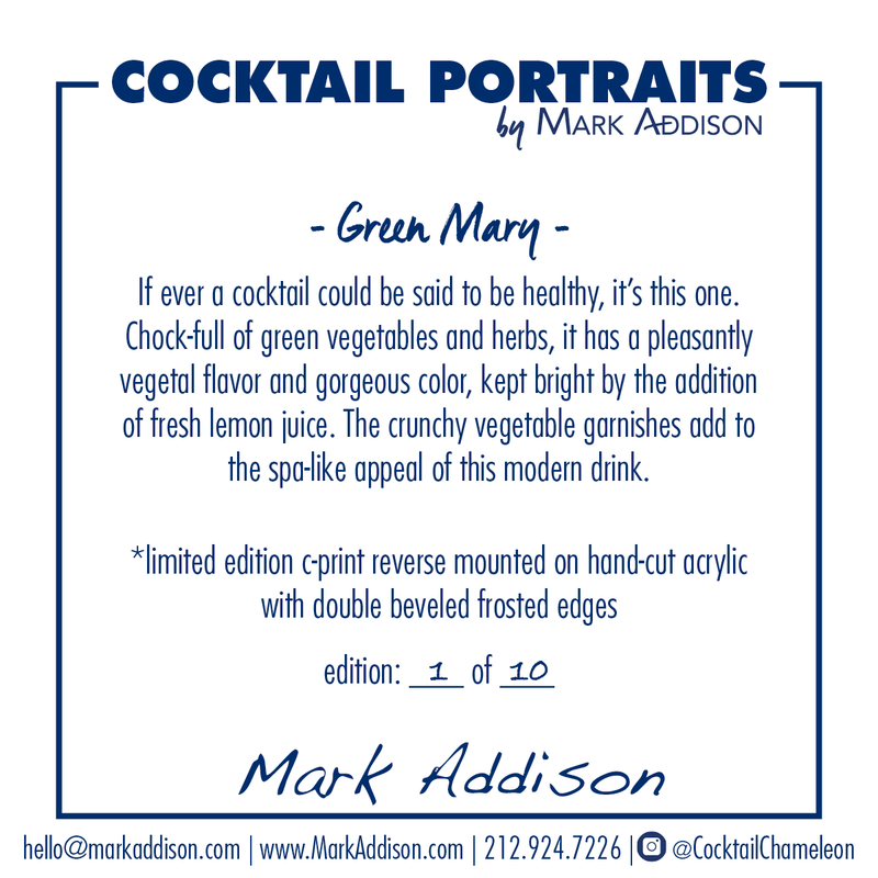 Limited Edition Cocktail Portrait: Green Mary signature plate