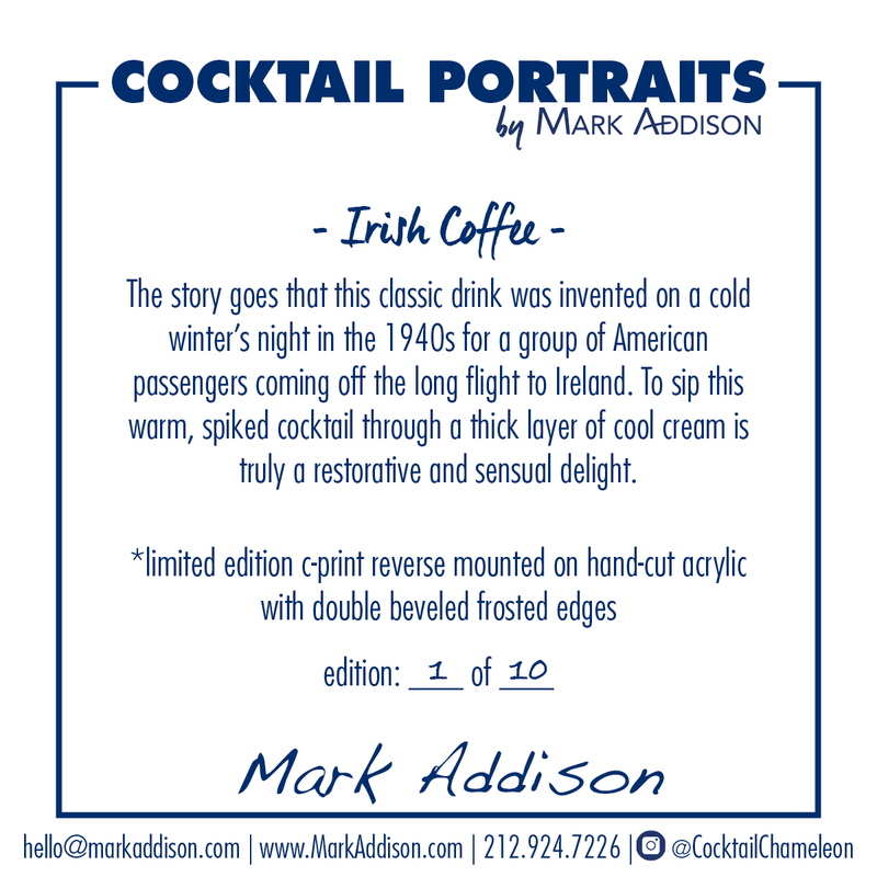 Limited Edition Cocktail Portrait: Irish Coffee signature plate