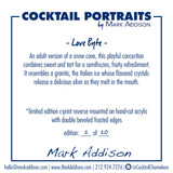 Limited Edition Cocktail Portrait: Love Byte signature plate