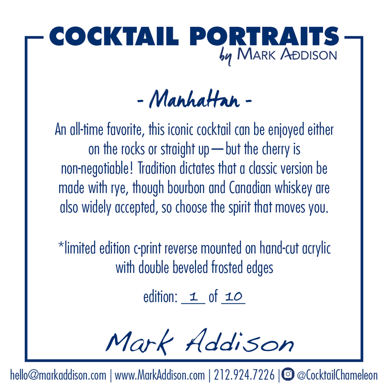 Limited Edition Cocktail Portrait: Manhattan signature plate