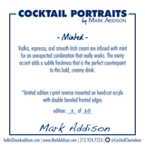Limited Edition Cocktail Portrait: Minted signature plate