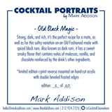 Limited Edition Cocktail Portrait: Old Black Magic signature plate