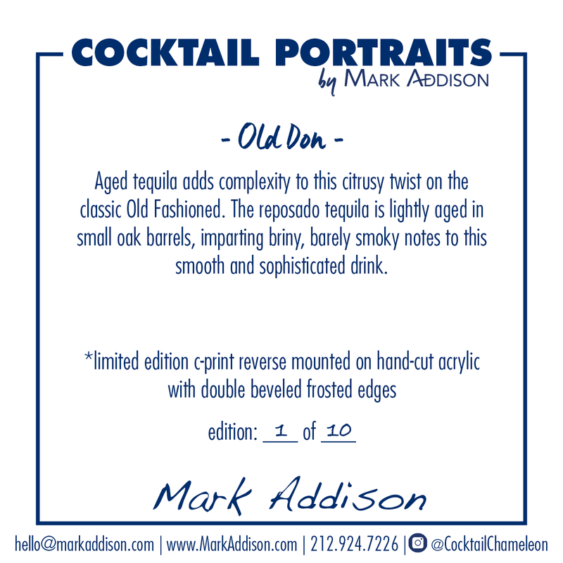 Limited Edition Cocktail Portrait: Old Don signature plate