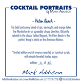 Limited Edition Cocktail Portrait: Palm Beach signature plate