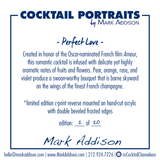 Limited Edition Cocktail Portrait: Perfect Love signature plate
