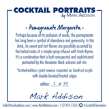 Limited Edition Cocktail Portrait: Pomegranate Margarita signature plate