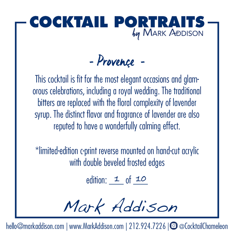 Limited Edition Cocktail Portrait: Provence signature plate