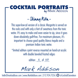 Limited Edition Cocktail Portrait: Skinny Rita signature plate