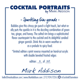 Limited Edition Cocktail Portrait: Sparkling GIN-gerade signature plate