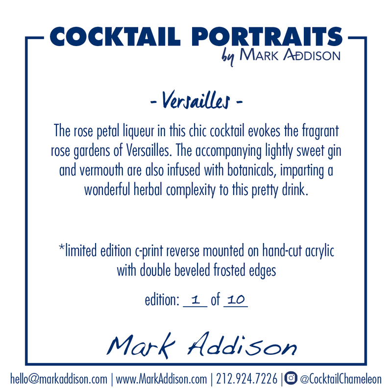 Limited Edition Cocktail Portrait: Versailles signature plate