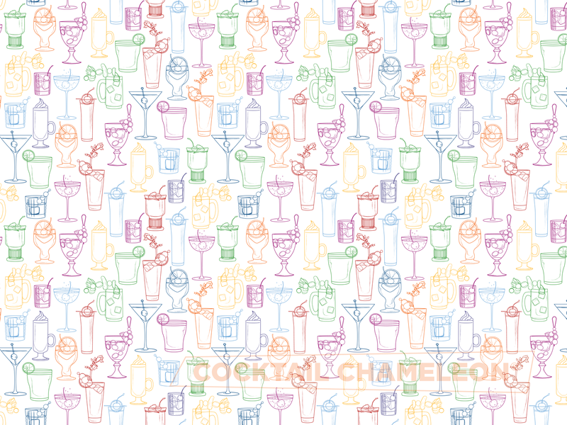 Cocktail Party Gift Wrap pattern Shop Cocktail Chameleon by Mark Addison