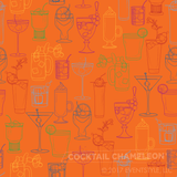 Cocktail Party Wallpaper - Orange Nectar - full pattern