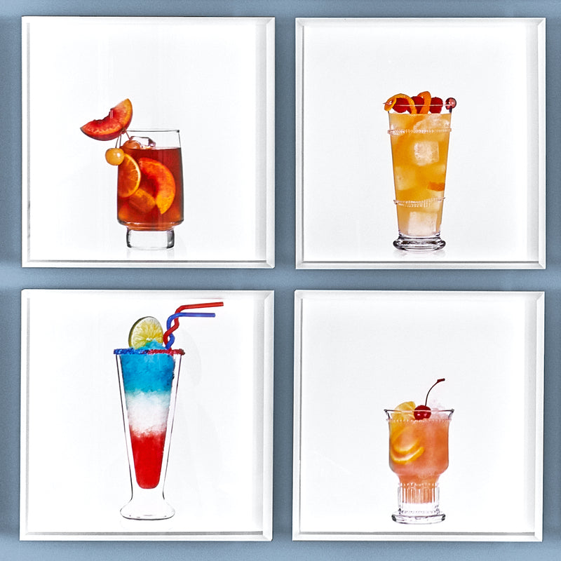 A group of 4 cocktail portraits