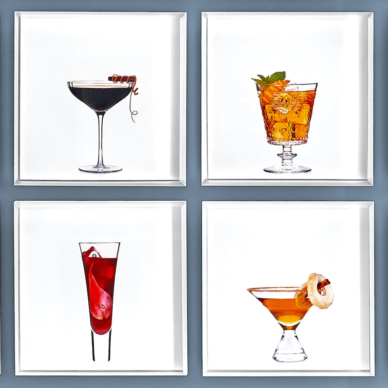 A group of 4 cocktail portraits together