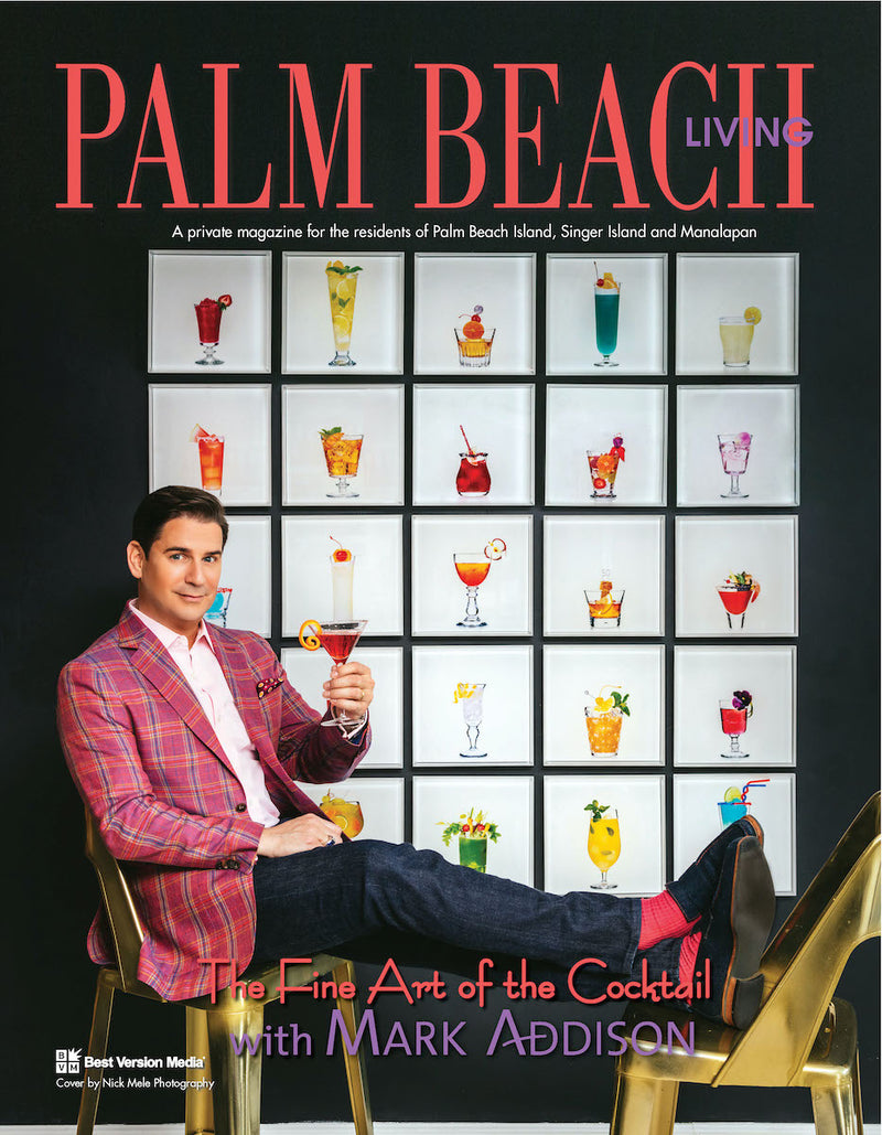 Mark Addison on the cover of Palm Beah Living