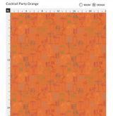 Cocktail Party Wallpaper - Orange Nectar - small pattern
