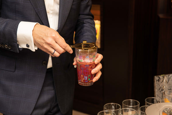 Cocktail Party Mixing Glass being used