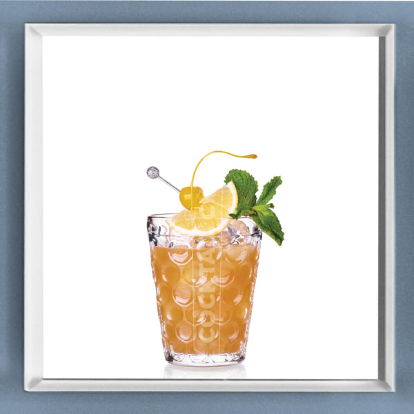 Limited Edition Cocktail Portrait: Arnold Palmer Collins framed image