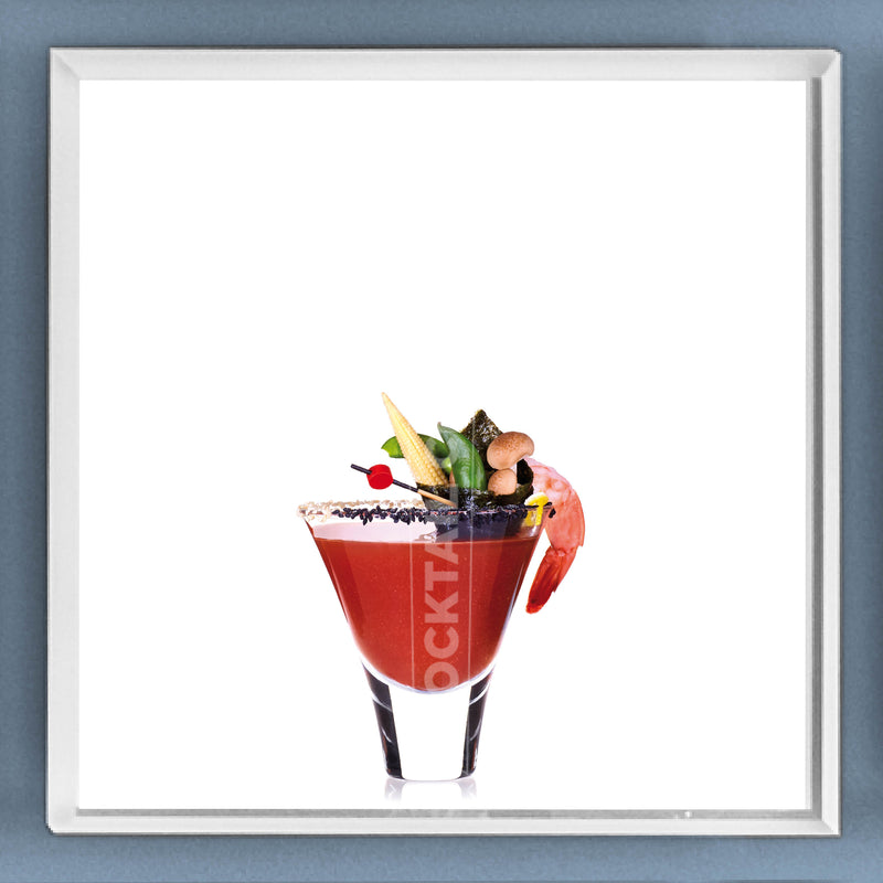 Limited Edition Cocktail Portrait: Bloody Geisha framed image