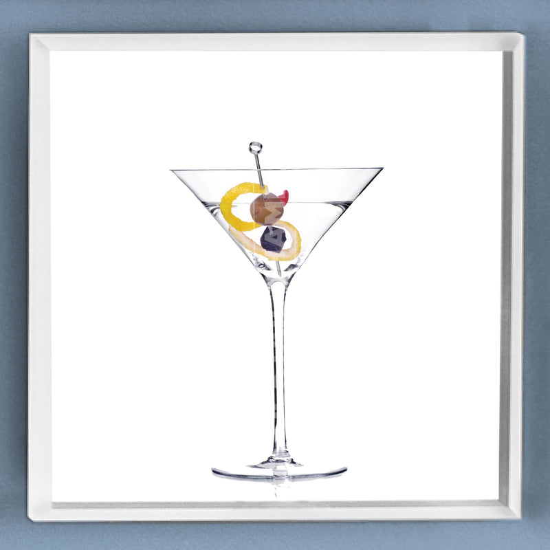 Limited Edition Cocktail Portrait: Classic Martini framed image
