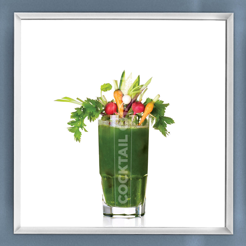 Limited Edition Cocktail Portrait: Green Mary framed image