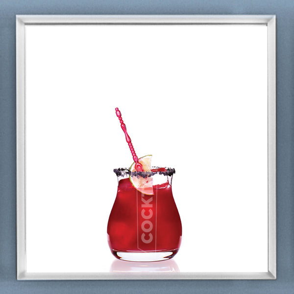 Limited Edition Cocktail Portrait: Pomegranate Margarita framed image