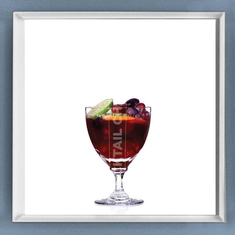 Limited Edition Cocktail Portrait: Porto Punch framed image
