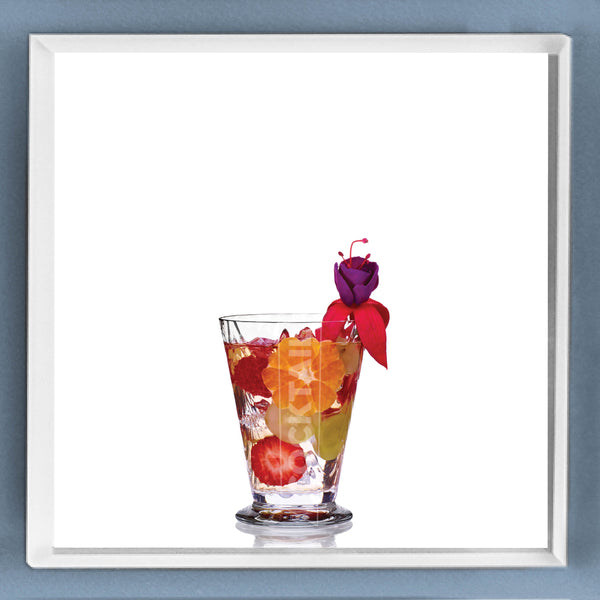 Limited Edition Cocktail Portrait: Sangria Flora framed image