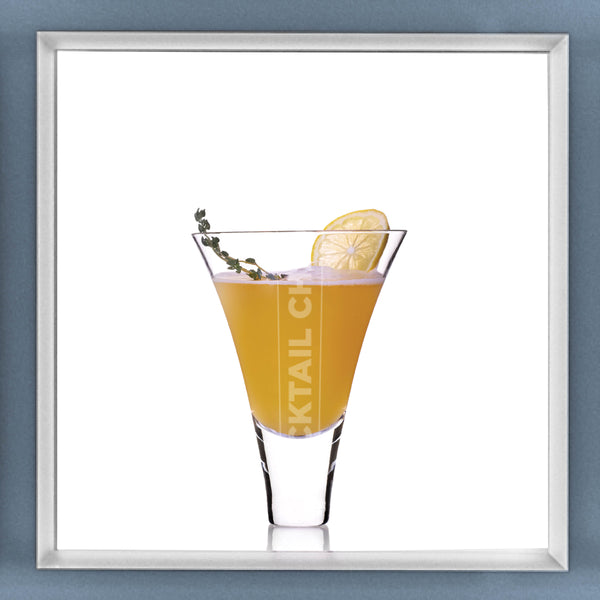 Limited Edition Cocktail Portrait: Summer-Thyme Shandy framed image