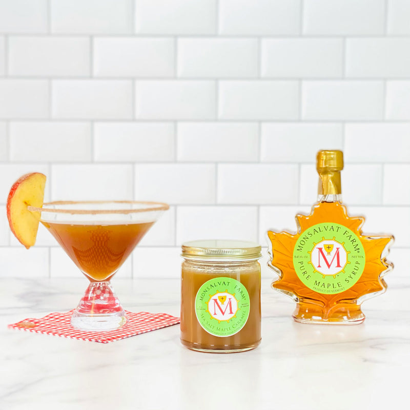 Monsalvat Farm Sea Salt Caramel - Monsalvat Farm Pure Maple Syrup - Apple Pie Martini  | Shop Cocktail Chameleon by Mark Addison