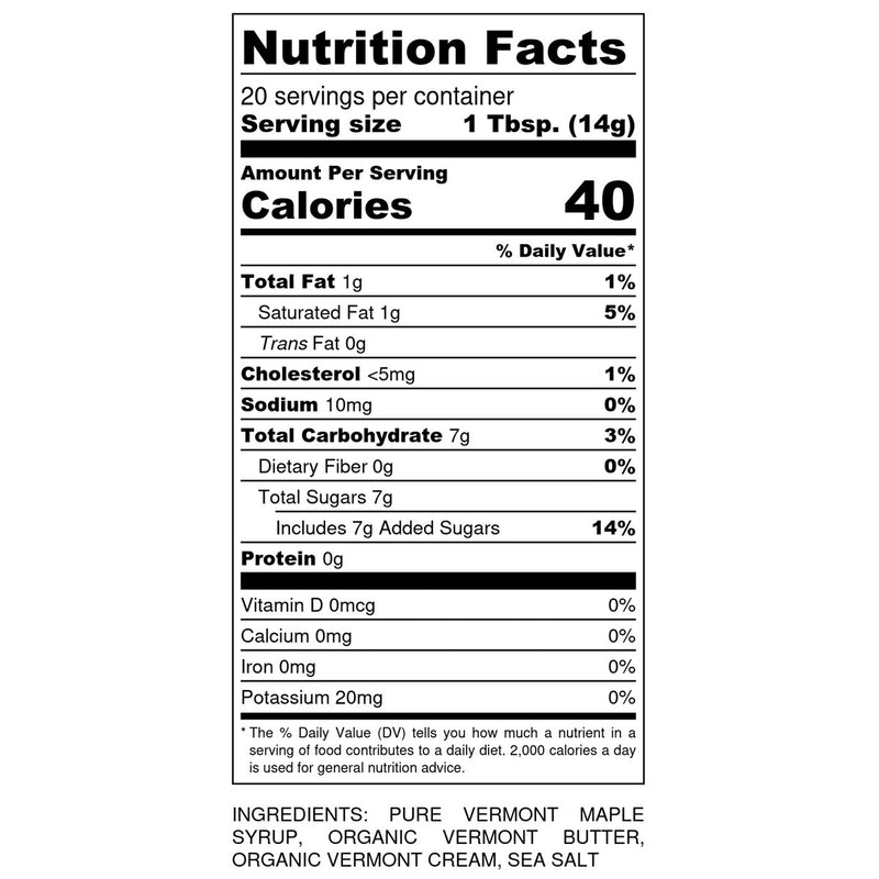 Monsalvat Farm Sea Salt Caramel Nutrition Facts | Shop Cocktail Chameleon by Mark Addison=