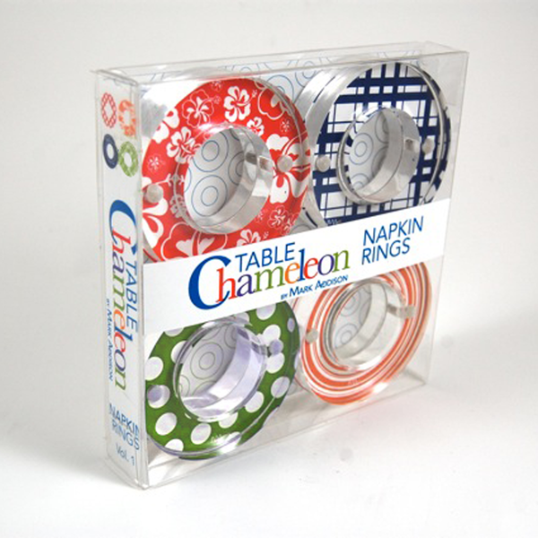 Table Chameleon by Mark Addison Napkin Rings
