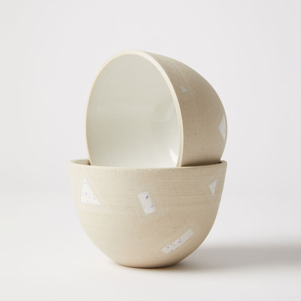 White Shapes Bowl