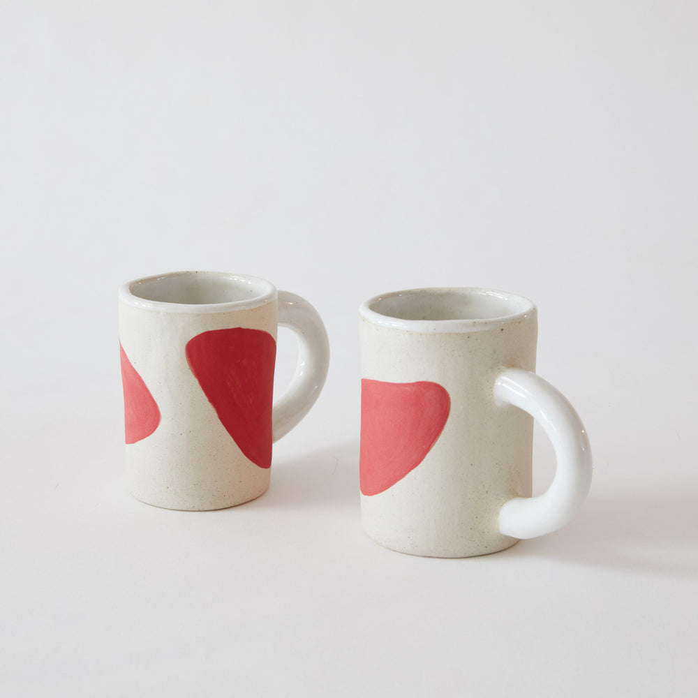 Red Shapes Mug