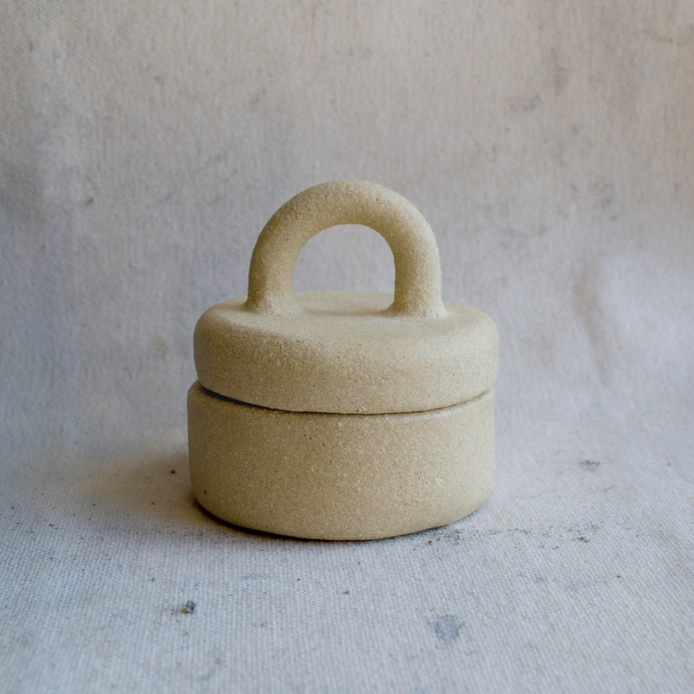 Lidded Jar with Loop Handle