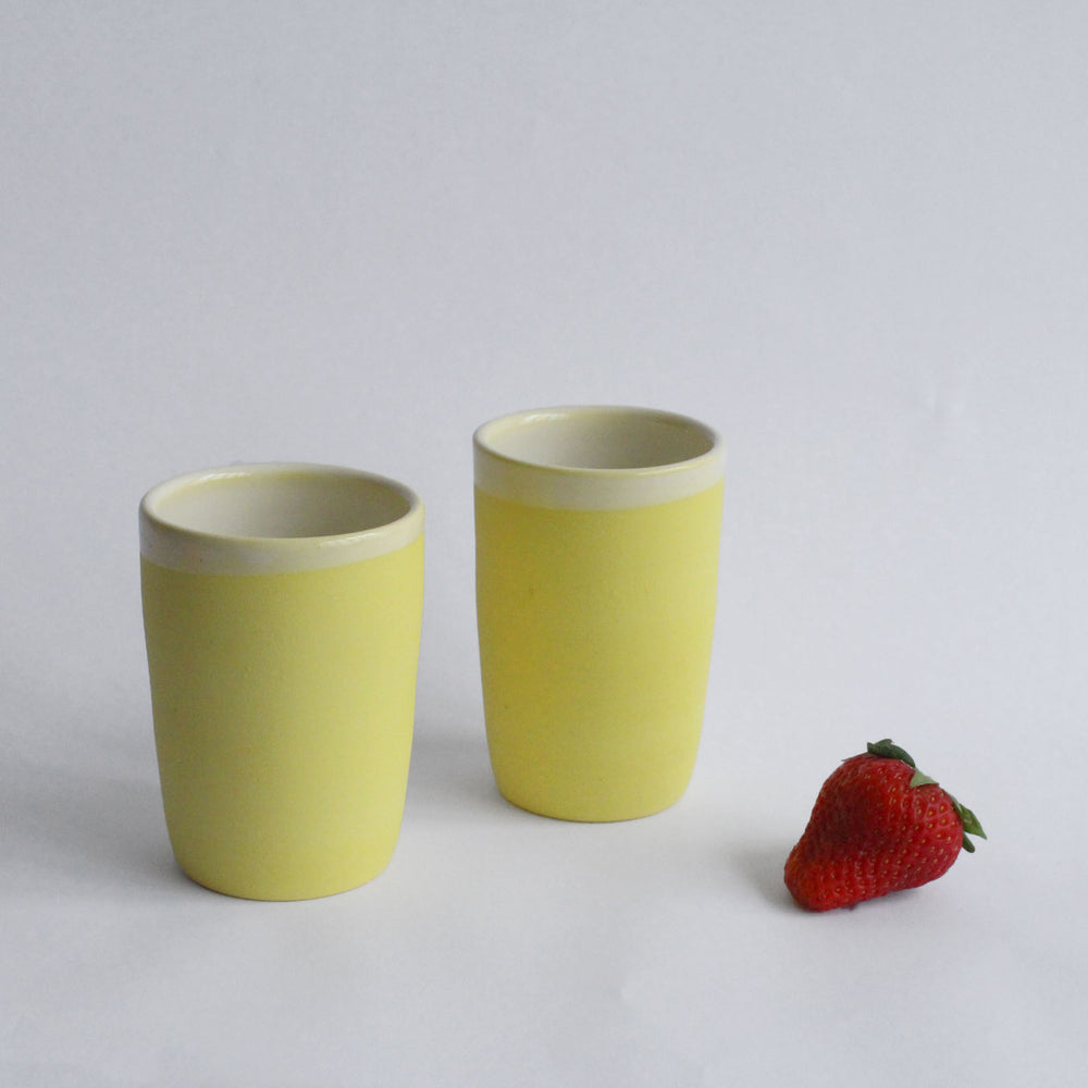 Yellow Porcelain Cup