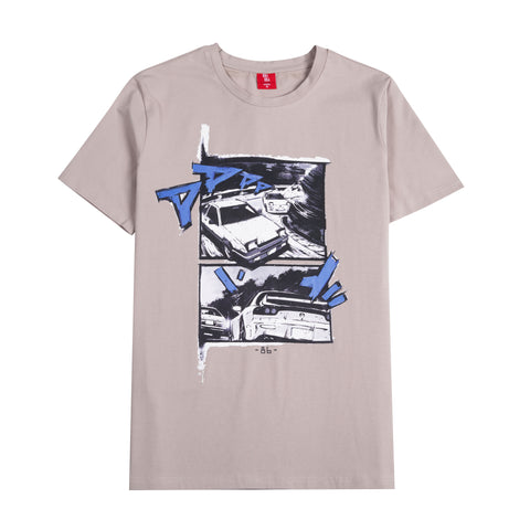 Gray colored shirt inspired by Initial D.