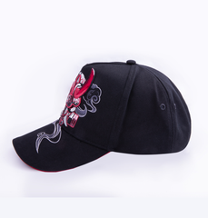 Black snapback hat with original Oni Design- inspired by Japanese Folklore